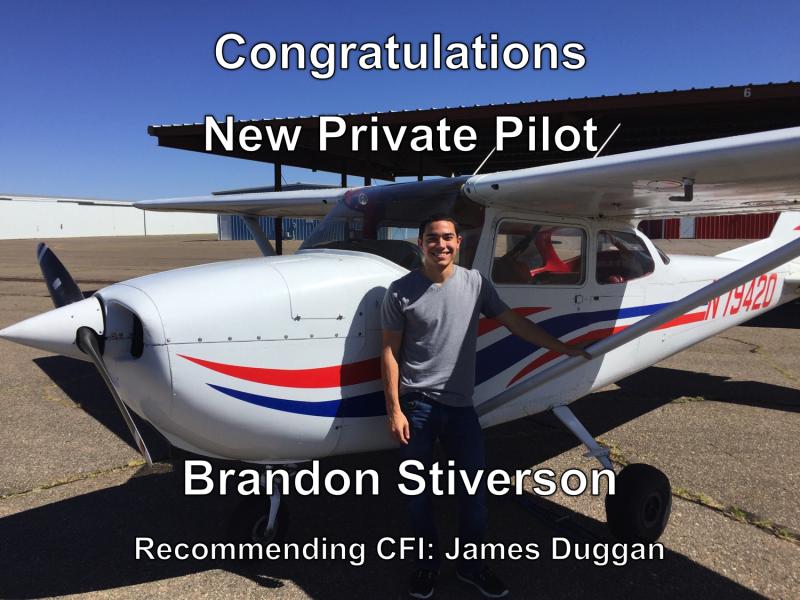Brandon Stiverson Checkride